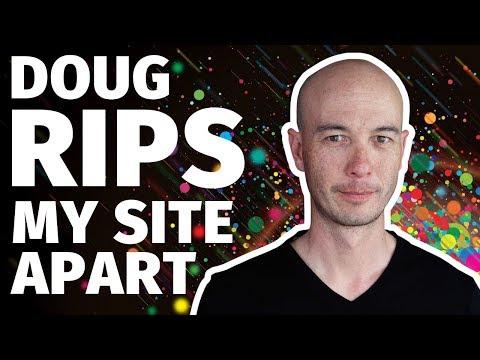 Doug Cunnington TEARS DOWN My AFFILIATE MARKETING WEBSITE thumbnail