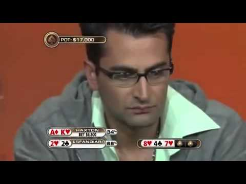 Isaac Haxton all in VS  Antonio Esfandiari pure bluff