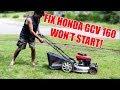 Honda GCV160CC Won't Start?...Watch to See How I Fix it!..