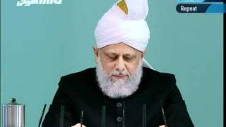 "(Turkish) Friday Sermon 21st January 2011 ""Honour of the Holy Prophet(saw) and blasphemy law"""