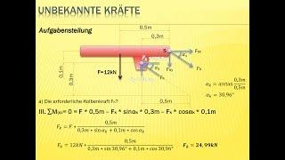Biegesteifer rahmen 2 2 statik mechanik tutorial for Statik auflager berechnen