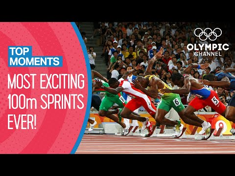 The most exciting 100m races in Olympic history! | Top Moments