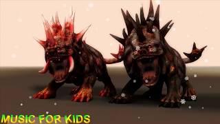 Hellhound Mountain Monsters 🔴 MUSIC FOR KIDS - Strange Stories