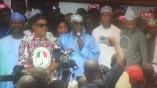 Atiku's Acceptance Speech