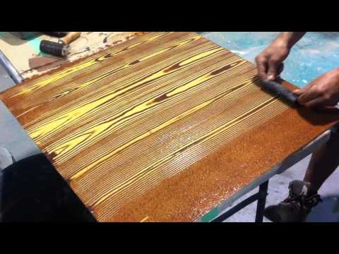 Faux oak wood grain creative painting techniques youtube Best paint for painting wood