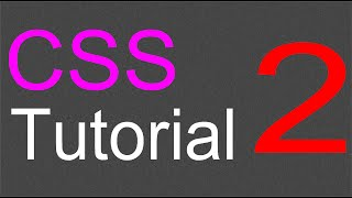 CSS Layout Tutorial - 02 - Styling the body
