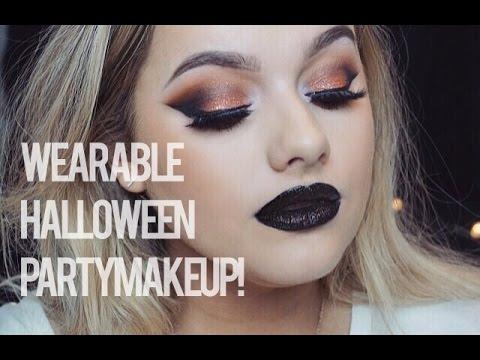 Wearable Halloween Party Make up! | Rachel Leary - YouTube