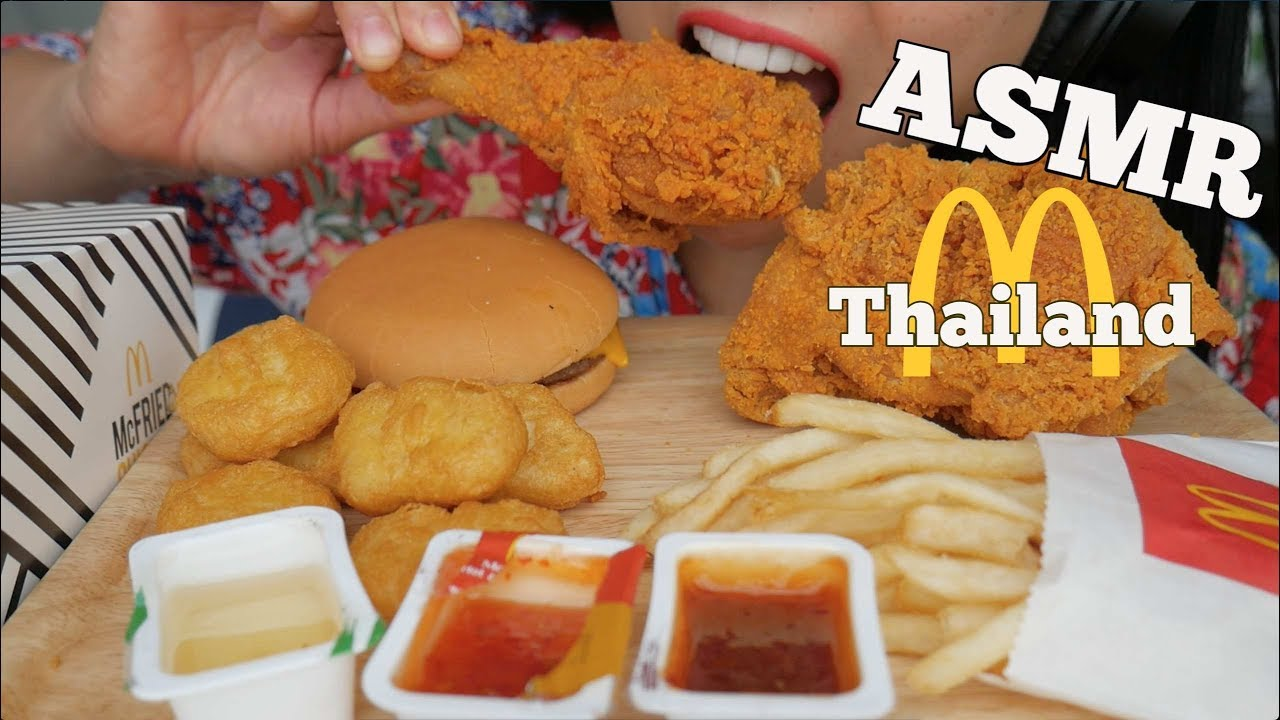 Asmr Mcdonalds Thailand Spicy Fried Chicken Chicken Nuggets Eating Sounds No Talking Sas Asmr