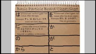 How to use Japanese particles - you will want to bookmark this cheat sheet Japanese Lesson