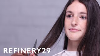 I Chopped Off 11 Inches Of Hair & Got Bangs | Hair Me Out | Refinery29