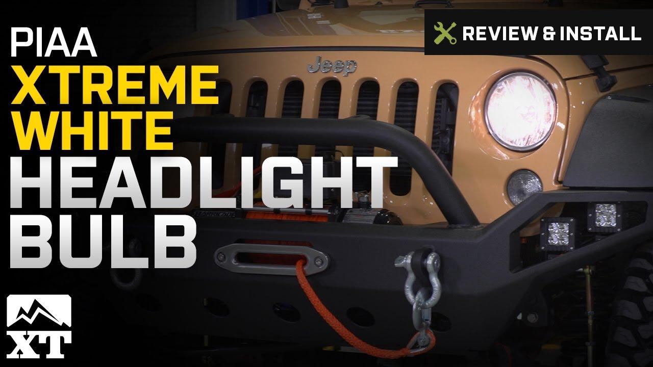 Jeep Wrangler Piaa Xtreme White Headlight Bulb 2007 2017 Jk Review Install