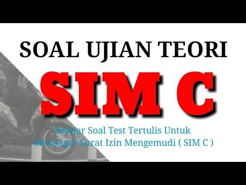 Berlatih Soal Ujian SIM C Terbaru 2019 Dan Kunci Jawaban