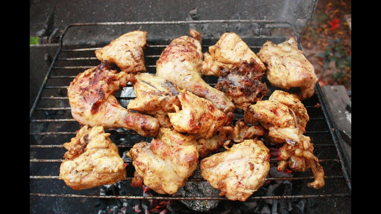 Приготовление кур на гриле