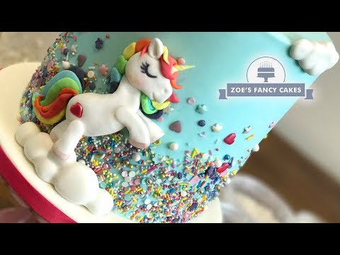 Unicorn sprinkles cake