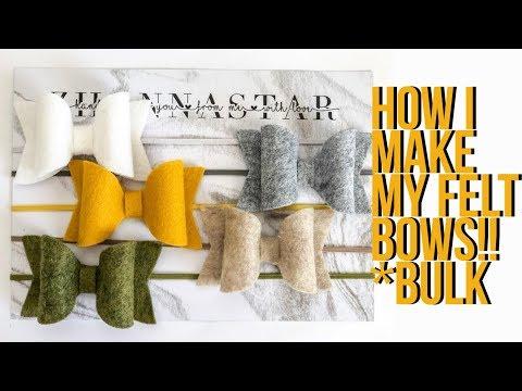 HOW TO MAKE WOOL FELT BOWS   using cricut or a printer