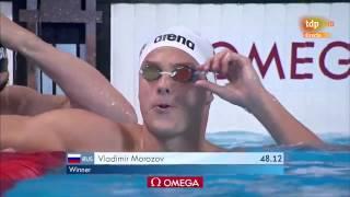 Вольный стиль 100 метров фальстарт Морозова дисквалифицирован Morozov DQ Kazan 2015