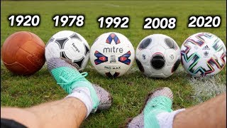Testing 100 Years of Footballs - What's the difference?