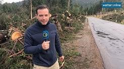 In Südtirol ganze Wälder verwüstet (06.11.2018)