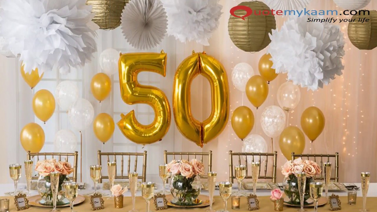50th birthday celebration ideas
