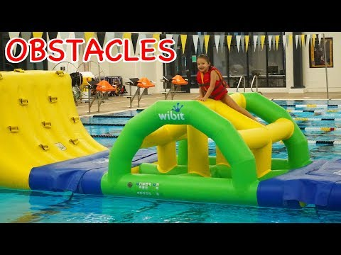 Water Park OBSTACLE COURSE at Indoor Aquatic Center + Water Slides