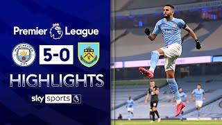 Mahrez gets hat-trick as Man City hit FIVE! | Man City 5-0 Burnley | Premier League Highlights