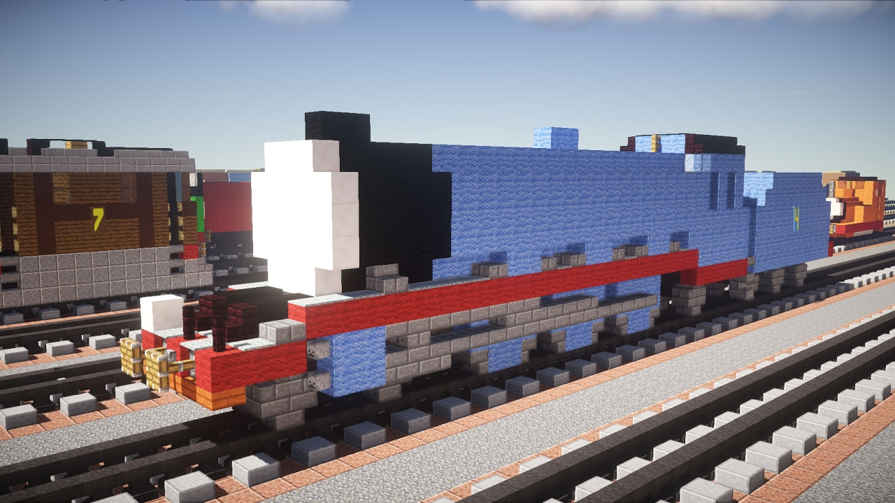How To Build Thomas The Train In Minecraft