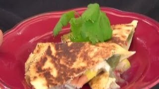 Brie, Mango, Crab And Green Chili Quesadilla