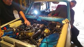 R5 Alpine Turbo Injection, First Startup Engine View