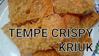 RESEP TEMPE CRISPY KRIUK DENGAN METODE SIRAM ALA PEDAGANG