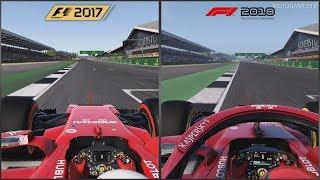 F1 2017 vs F1 2018 - Silverstone Comparison