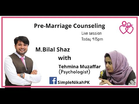 Pre Marriage Counseling By Maam Tehmina Muzafar from YouTube · Duration:  35 minutes 4 seconds