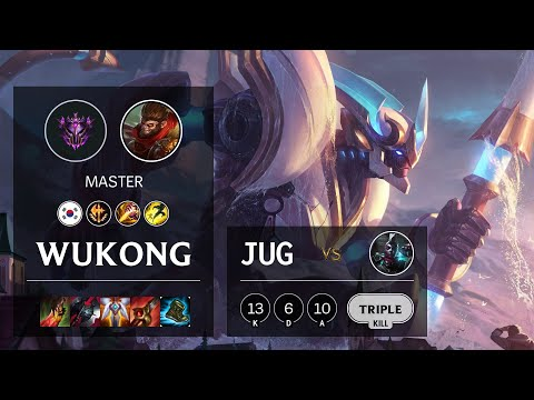 Wukong Jungle vs Ekko - KR Master Patch 10.16