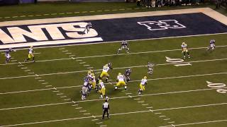 Packers vs Giants - Rodgers throws TD to Finley