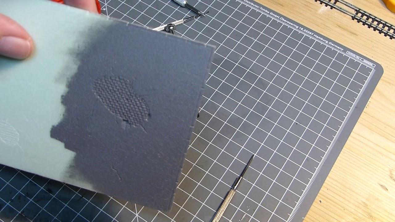 Styrodur Platten Pragen Asphalt Kopfsteinpflaster Spur N Teil 2 2