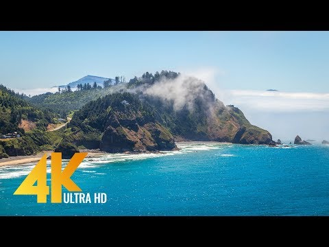 4K Coastal Oregon - Pacific Ocean. Relax Video with Ocean Views & Nature Sounds - Episode 1