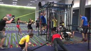 Group personal training bootcamp class on MoveStrong