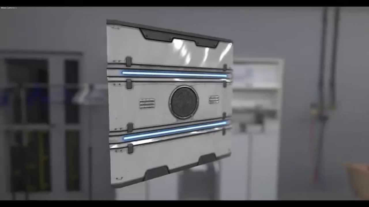 Modeling a Sci-Fi Panel (Low Poly) - Timelapse - YouTube