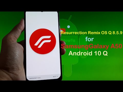 Resurrection Remix OS Q 8.5.9 for Galaxy A50 Android 10 Q