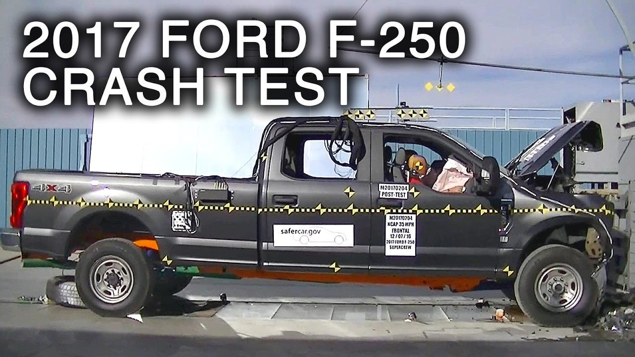 2017 ford f 250 crew cab frontal crash test youtube. Black Bedroom Furniture Sets. Home Design Ideas