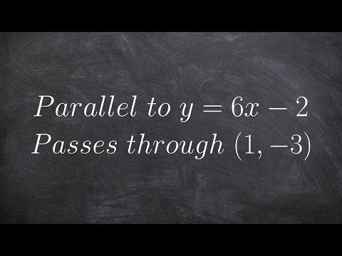 Write The Equation Of A Parallel Line Using Point Slope Form