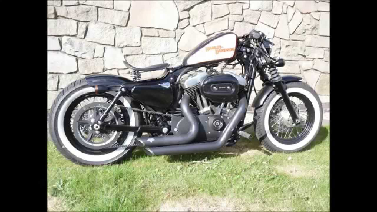Harley 48 Custom Forty Eight Modified Bobber - YouTube