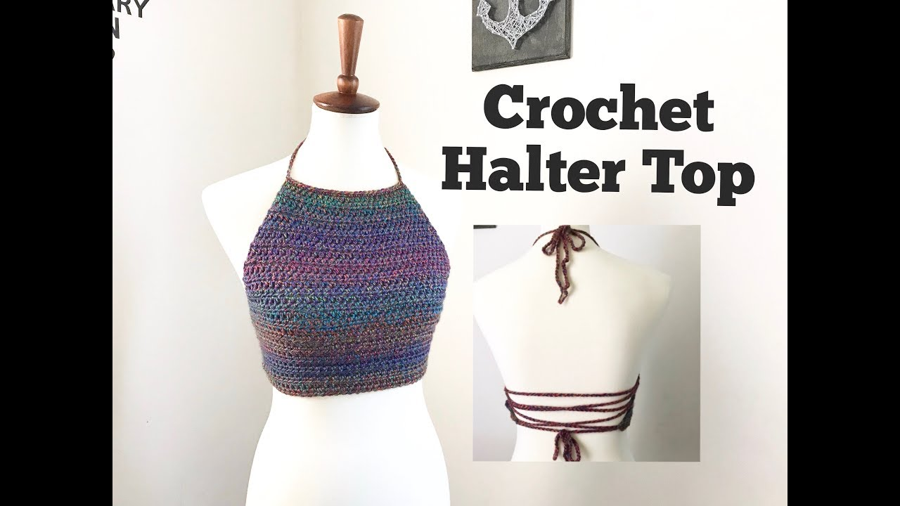 How to Crochet Halter Top (Adult size) - YouTube