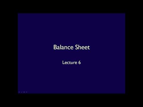 Financial Statements - Lecture 6 Balance Sheet (ASPE)