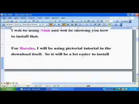 Kannada Nudi and BARAHA Software for free