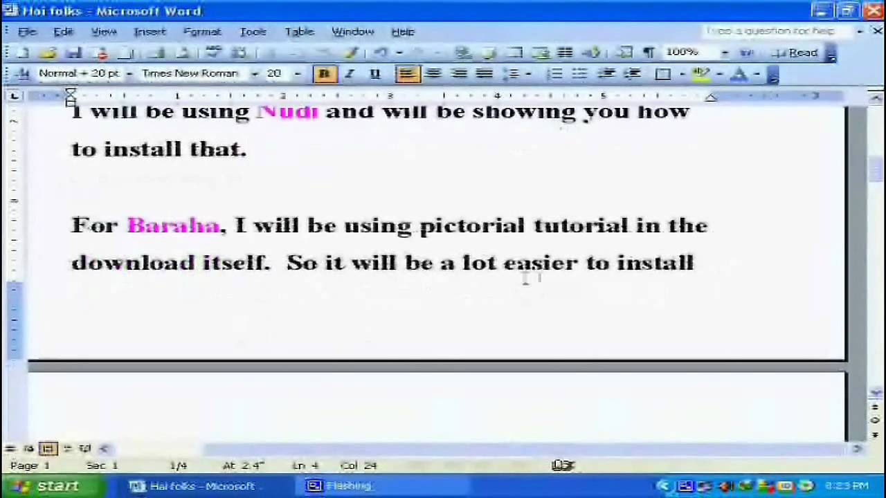 Kannada Nudi and BARAHA Software for free