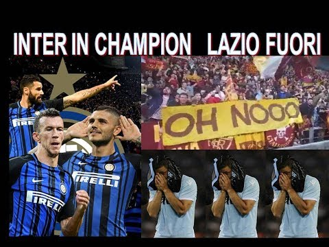 Inter in Champion - Lazio fuori  -gli sfottó dei romanisti !!!