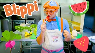 Blippi Makes Popsicles For Kids | Educational Videos For Toddlers | Learning Fruits With Blippi