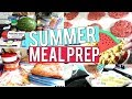 SUMMER MEAL PREP WITH ME 2018 | FAMILY MEAL PLANNING | FREEZER COOKING