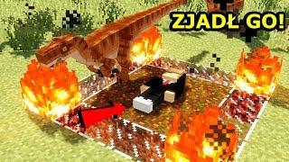 Minecraft Park Jurajski 6- ZJEDZONY PRZEZ DINOZAURY!