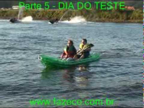 Kaypet - Caiaque de garrafas PET ecologico - Kayak PET bottles barco